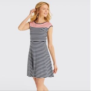Draper James Striped Ponte A-Line Dress